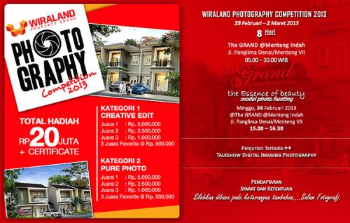 "Lomba Foto ""Wiraland Photography Competition"" (Deadline:22 Feb"